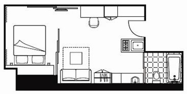 Floorplan at Citadines Ashley Apartments